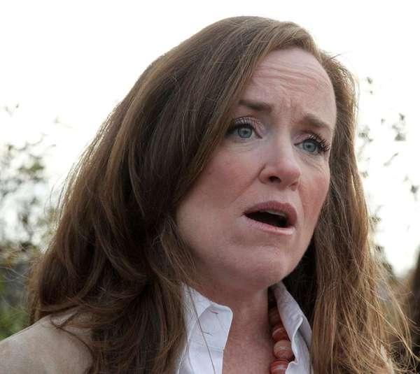 Rep. Kathleen Rice speaks in East Meadow on
