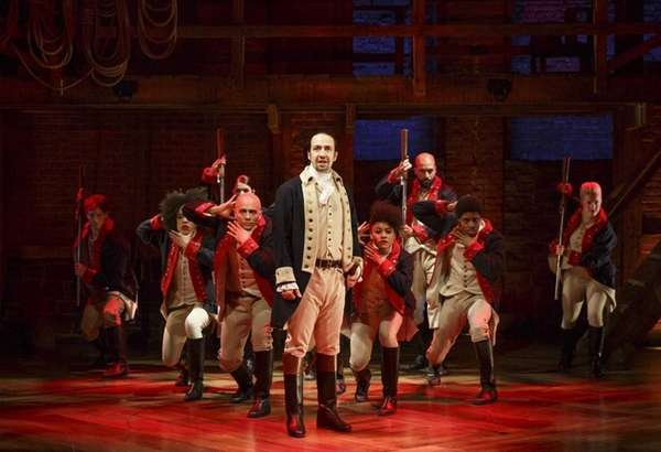 Lin-Manuel Miranda, center, and cast appear in the