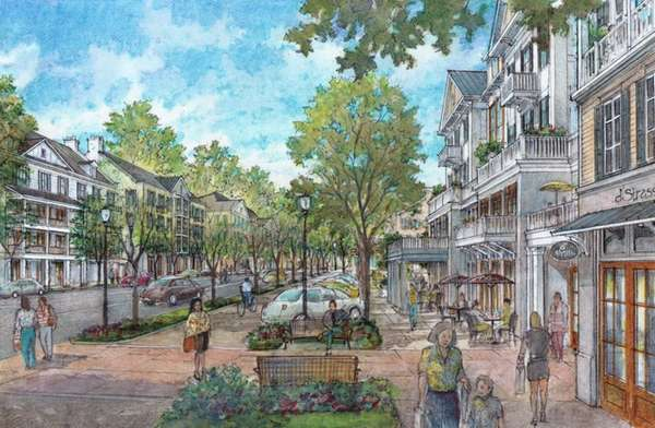 Southampton Town rendering of the economic-revitalization plan to