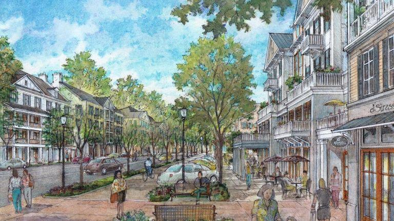 Southampton Town rendering of the economic-revitalization plan to
