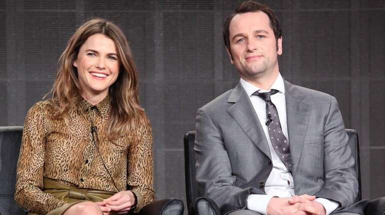 Actors Keri Russell and Matthew Rhys attend a