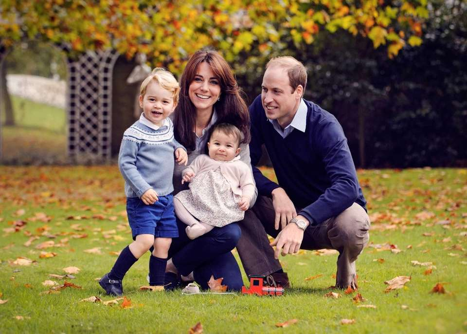 Catherine, Duchess of Cambridge, Britain's Prince William, and