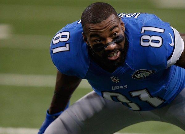 Calvin Johnson #81 of the Detroit Lions