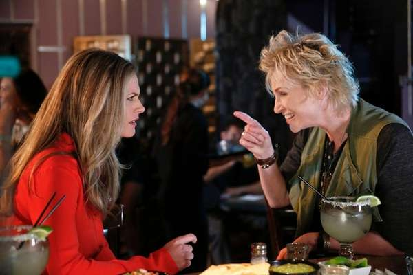 Jane Lynch, right, plays Amy, a brassy woman