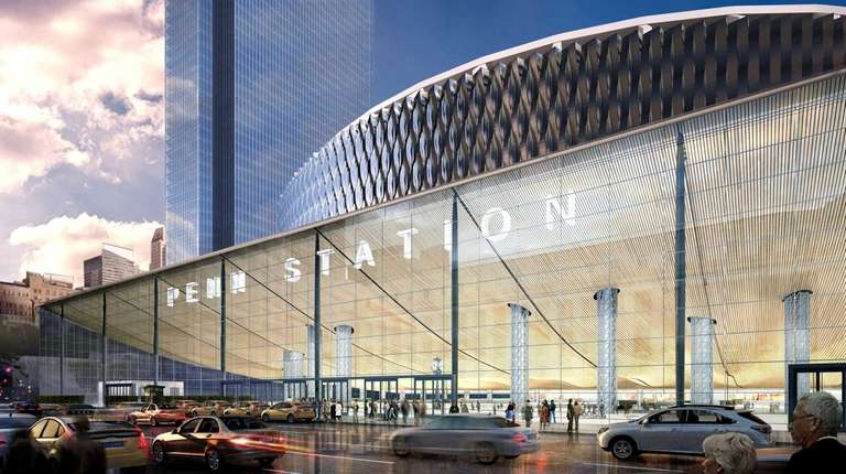 A view of what would be Penn Station's
