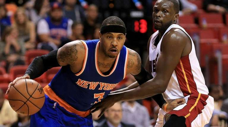 Carmelo Anthony #7 of the New York