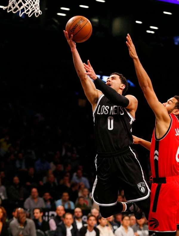 Shane Larkin of the Brooklyn Nets goes