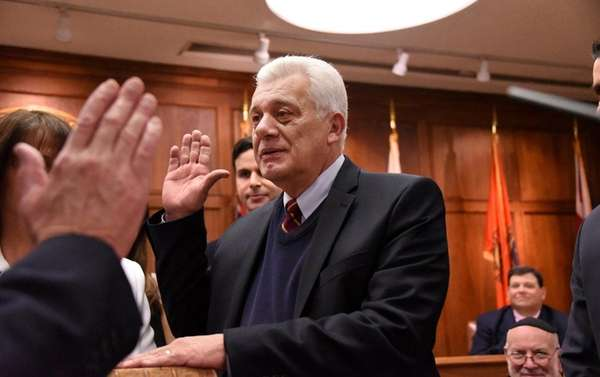 Oyster Bay Town Supervisor John Venditto is sworn
