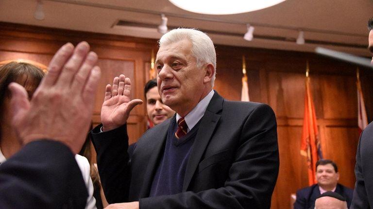 Oyster Bay Town Supervisor John Venditto is sworn