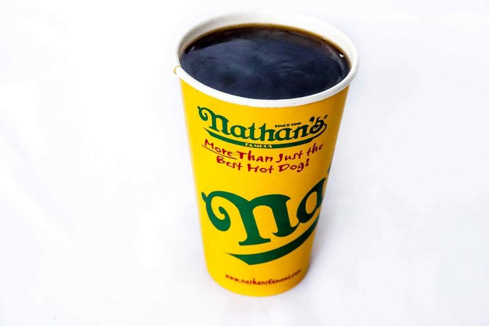 Watery and slightly tannic, Nathan's coffee has a