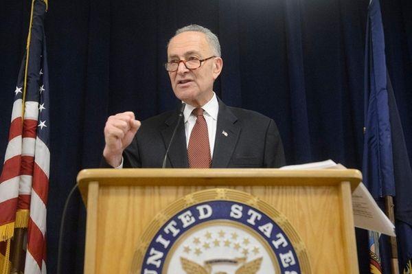 U.S. Sen. Charles E. Schumer holds a news