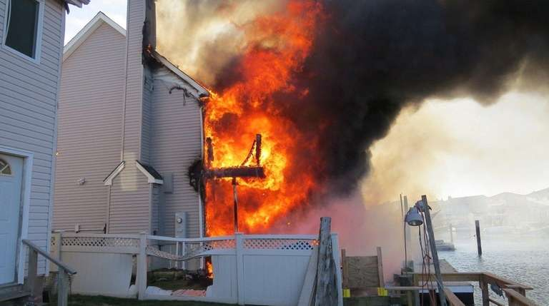 The Oceanside fire department responds to a report