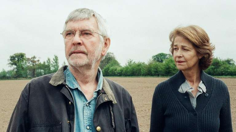 Tom Courtenay, left, as Geoff and Charlotte Rampling