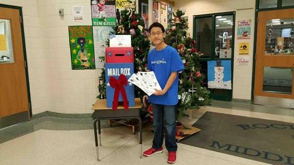 Frankie Anzaldi, a sixth-grader at Rocky Point Middle
