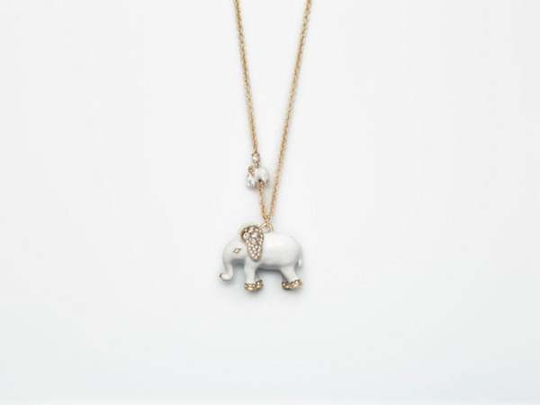 A limited-edition elephant necklace from Ann Taylor.