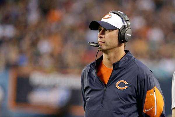 Chicago Bears offensive coordinator Adam Gase during