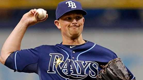 Kirby Yates of the Tampa Bay Rays makes