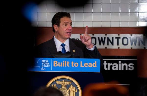 Gov. Andrew M. Cuomo speaks during an event