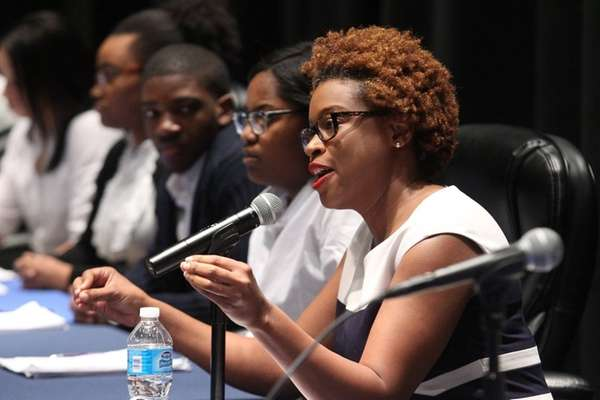 Khalilah M. Harris, right, deputy director of the