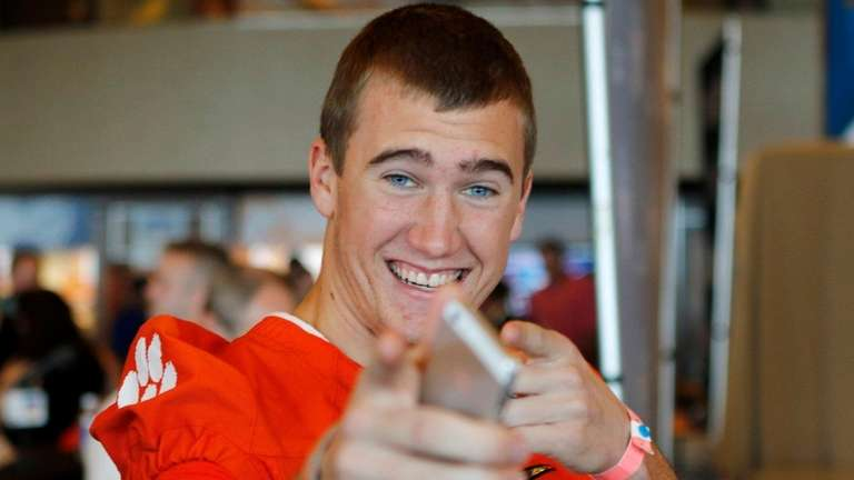 Clemson wide receiver Seth Ryan, the son of