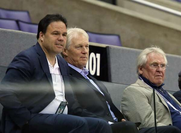 (L-R) Jeff Gorton, Jim Schoenfeld, and Glen Sather