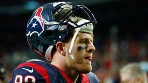 J.J. Watt of the Houston Texans walks off