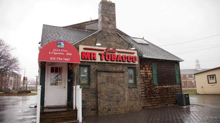 Mr. Tobacco in Smithtown is shown. According to