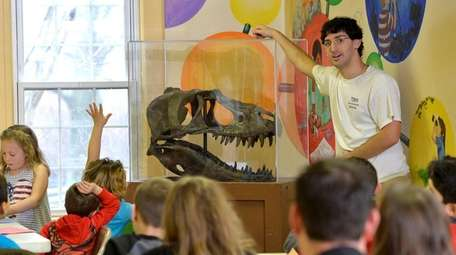 David Moscato, 27, a paleontologist with the Center