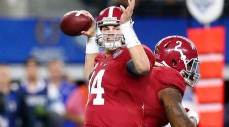 Alabama quarterback Jake Coker was 25-for-30 for 286