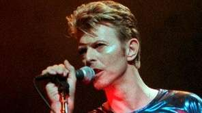 David Bowie performs during a concert in Hartford,