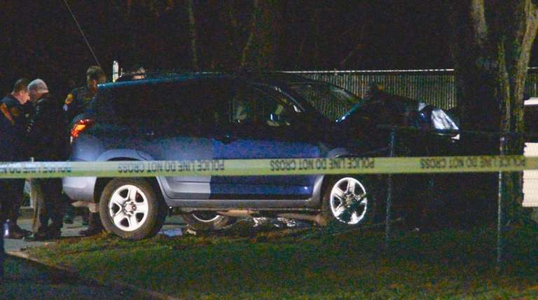 Suffolk County police investigate scene where Anthony Lapicola,