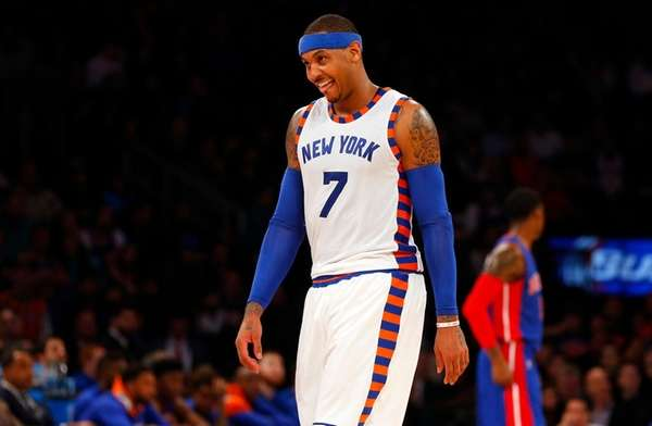 Carmelo Anthony of the New York Knicks, shown