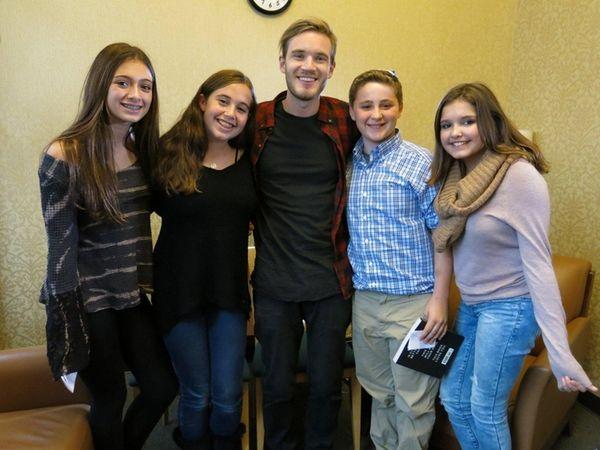 Kidsday reporters, from left, Jessica Bitonti, Ava Lieberman,