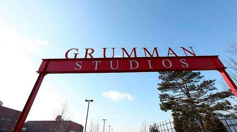 The entrance to Grumman Studios in Bethpage is