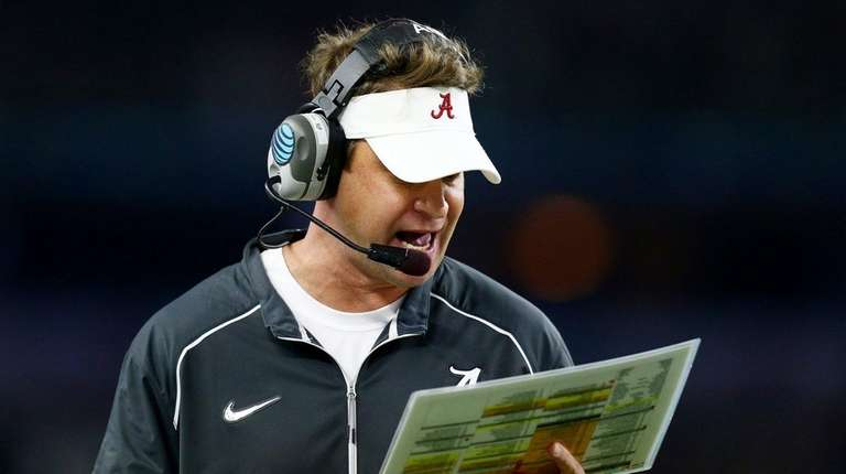Alabama offensive coordinator Lane Kiffin during the Cotton