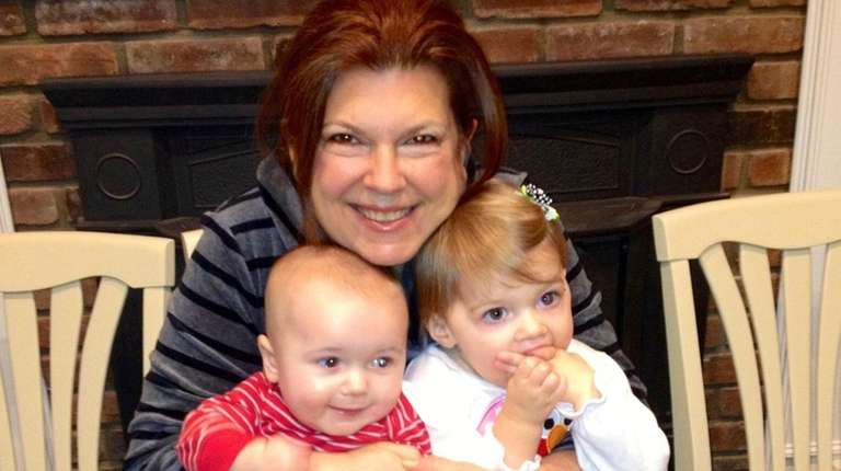 Gina Kelly, of New Hyde Park, with grandchildren