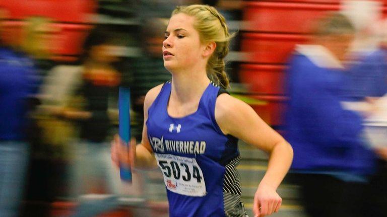 Amy Drexel of Riverhead runs in the Zeitler