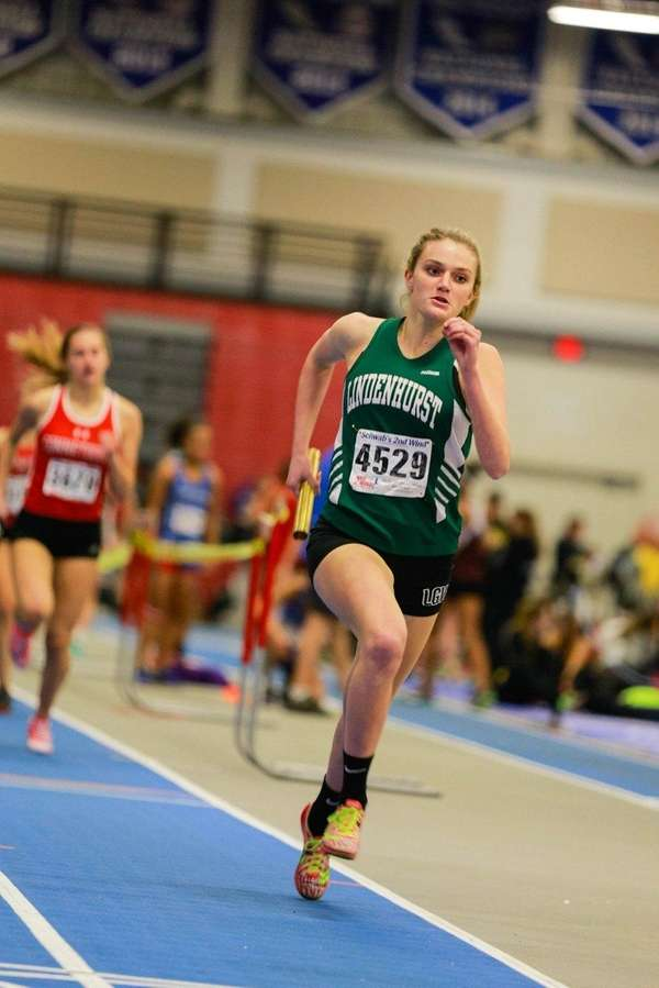 Lindenhurst's Trista Seara runs in the Zeitler relays