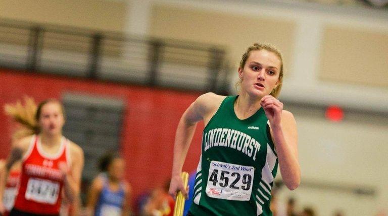 Lindenhurst's Trista Seara runs in the Zeitler relays