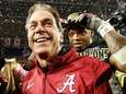 Alabama head coach Nick Saban celebrates after defeating