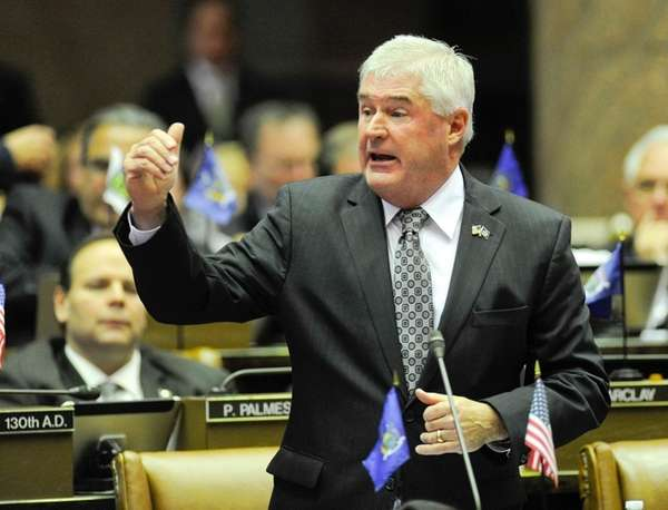 Assembly Minority Leader Brian Kolb (R-Canandaigua) speaks in