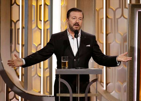 Ricky Gervais hosts the 73rd annual Golden Globe