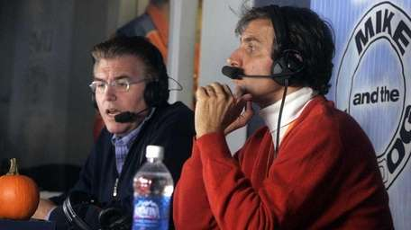 Mike Francesa, left, and Chris Russo, right,