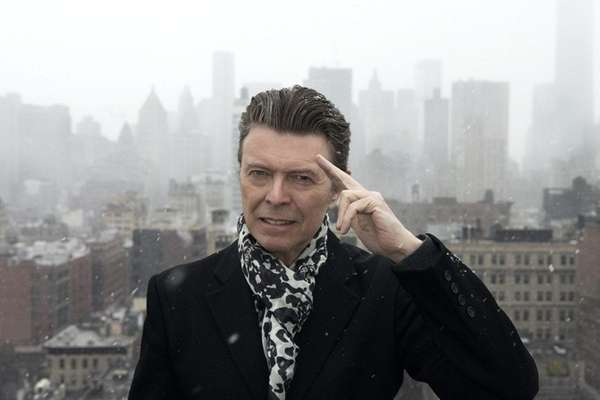 David Bowie appears in Manhattan in 2013. The
