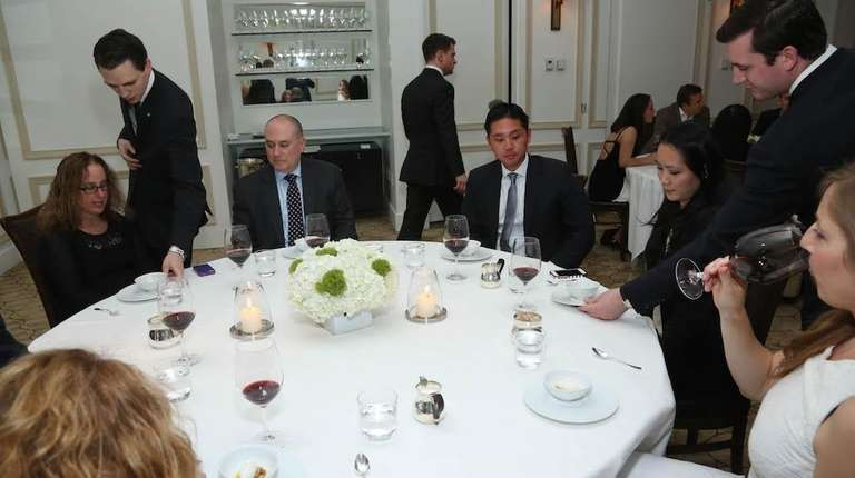 Guests dine at Per Se in Manhattan on