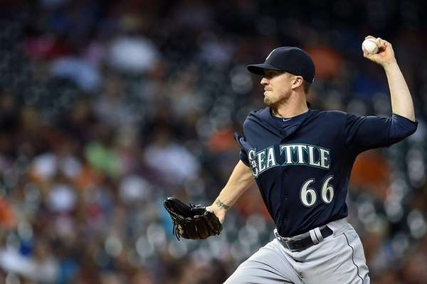 Tyler Olson #66 of the Seattle Mariners