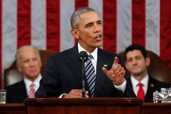 President Barack Obama delivers his State of