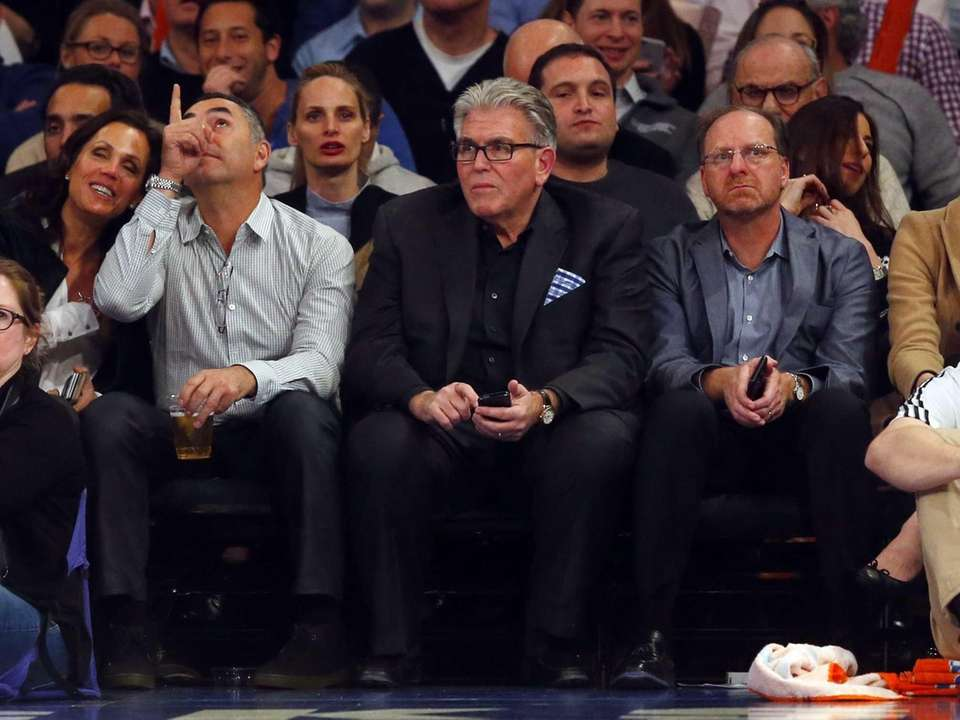 WFAN host Mike Francesa attends a game between