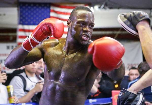 Deontay Wilder works out before an upcoming WBC