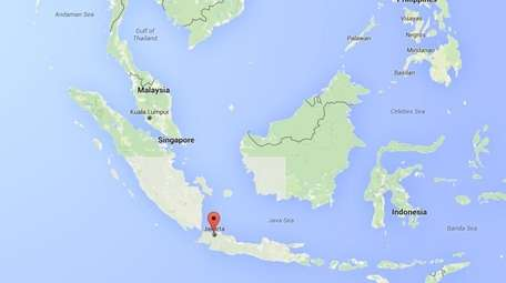 Indonesia's capital of Jakarta, located in Southeast Asia,